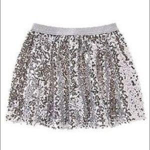 Crazy 8 kids Silver sequin full skirt